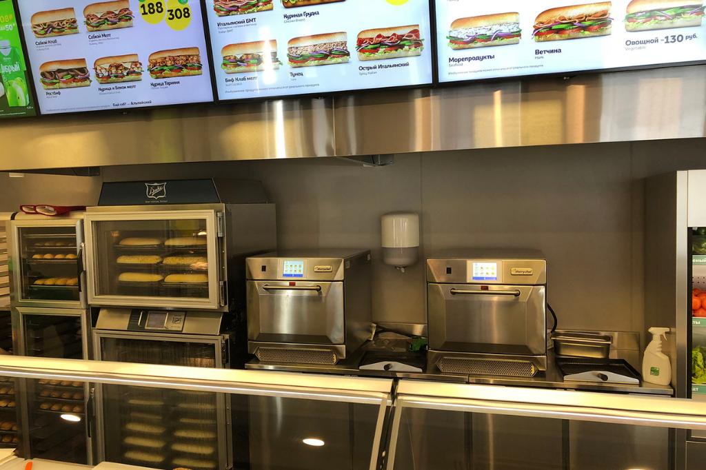 devapo merrychef high speed oven referentie subway